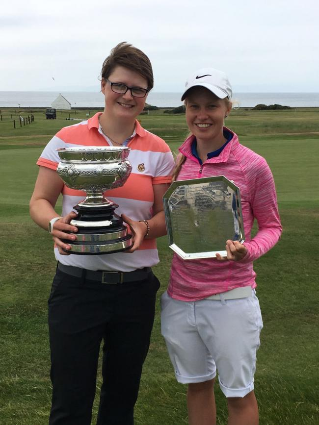 MacDonald (right) with winner Ailsa Summers