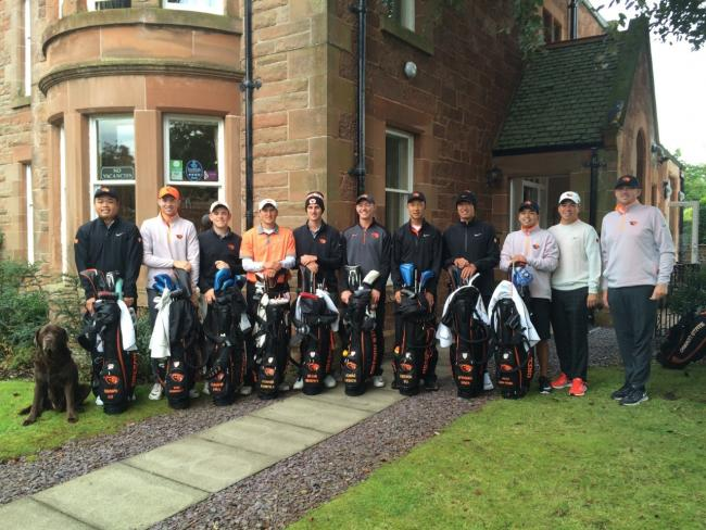 Oregon State University men's golf team, including North Berwick star Callum Hill, were in the county this week & stayed with Callum's parents