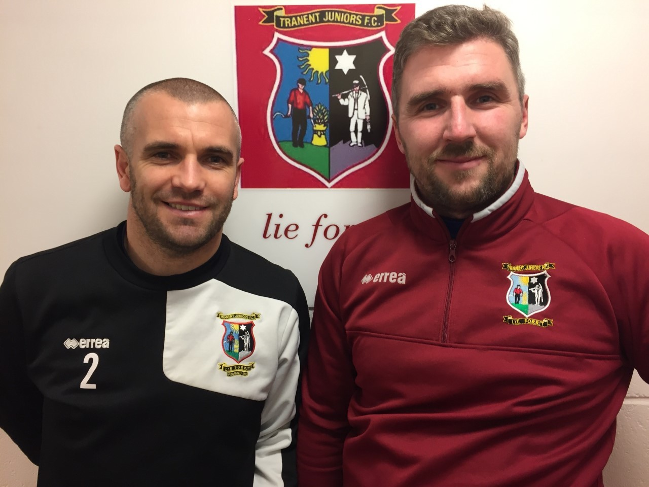 Kenny Rafferty (right) and Darren Smith are the new managers of Tranent Juniors