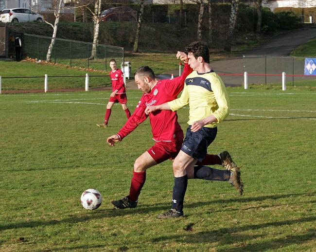Ormiston (red) in action earlier this season