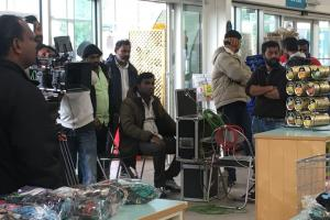 Dunbar Garden Centre was the unusual backdrop for filming for an Indian blockbuster last week