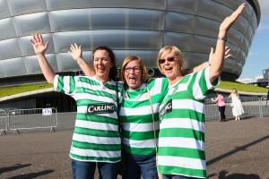 Sisters Anne St Germain, Kathleen Rennie and Eileen Devlin travelled from Ontario,in Canada for the Lisbon Lions 50th anniversary event (Credit: Colin Mearns)