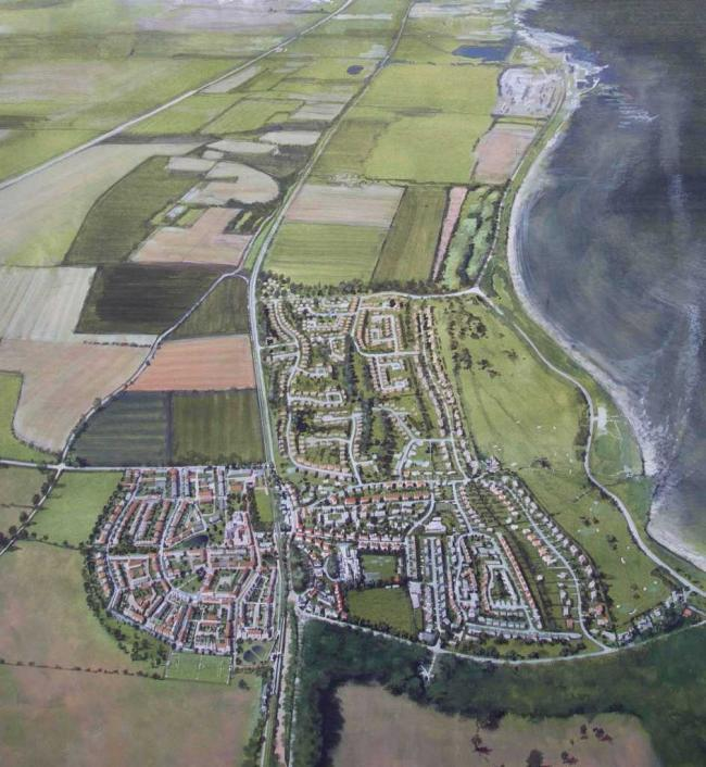 Plans for hundreds of new homes to the south of the railway line at Longniddry, pictured on the left, have been given the go ahead