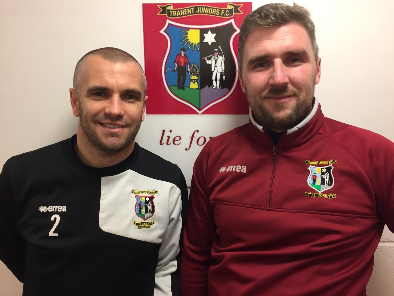 Darren Smith (left) and Kenny Rafferty have left their posts as co-managers of Tranent Juniors