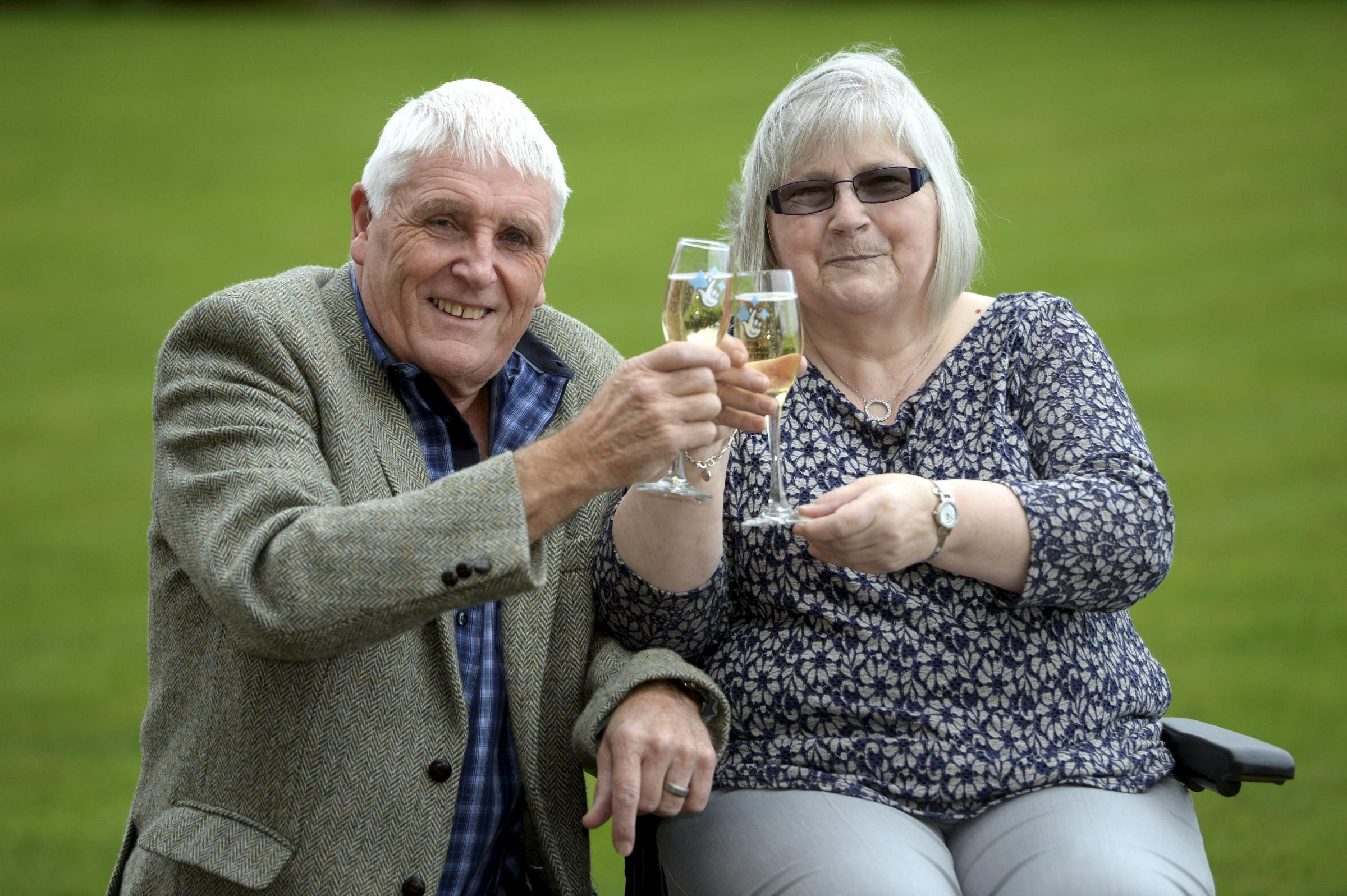 Tommy and Linda Parker from Port Seton, East Lothian, have won a massive £5,014,254 on the October 18 2017 Lotto draw. Their ticket matched five numbers plus the bonus ball. October 24 2017.