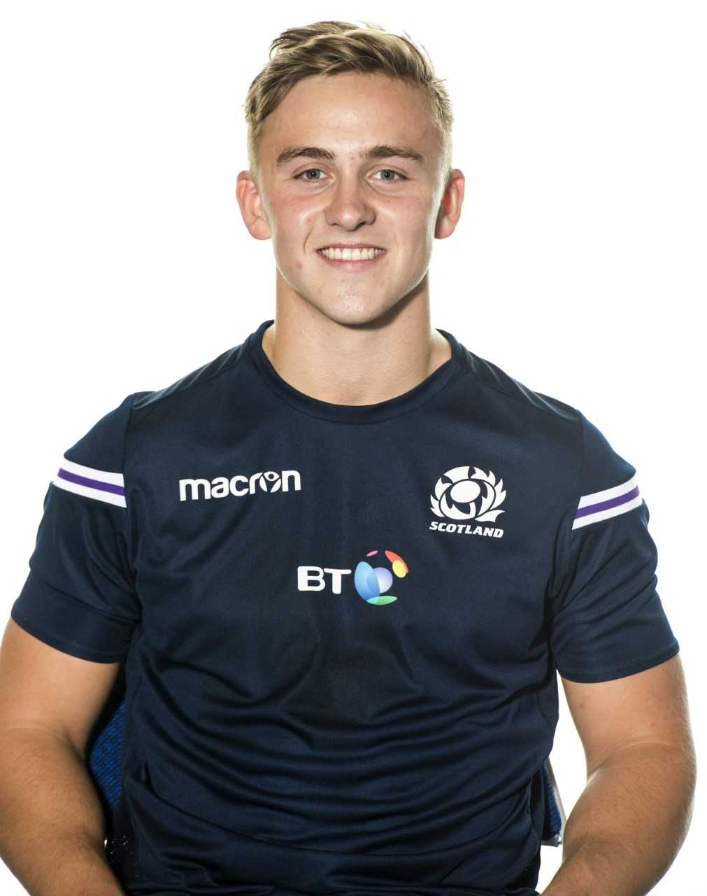 Harvey Elms was a try-scorer for Scotland 7s this morning. Image courtesy Scottish Rugby