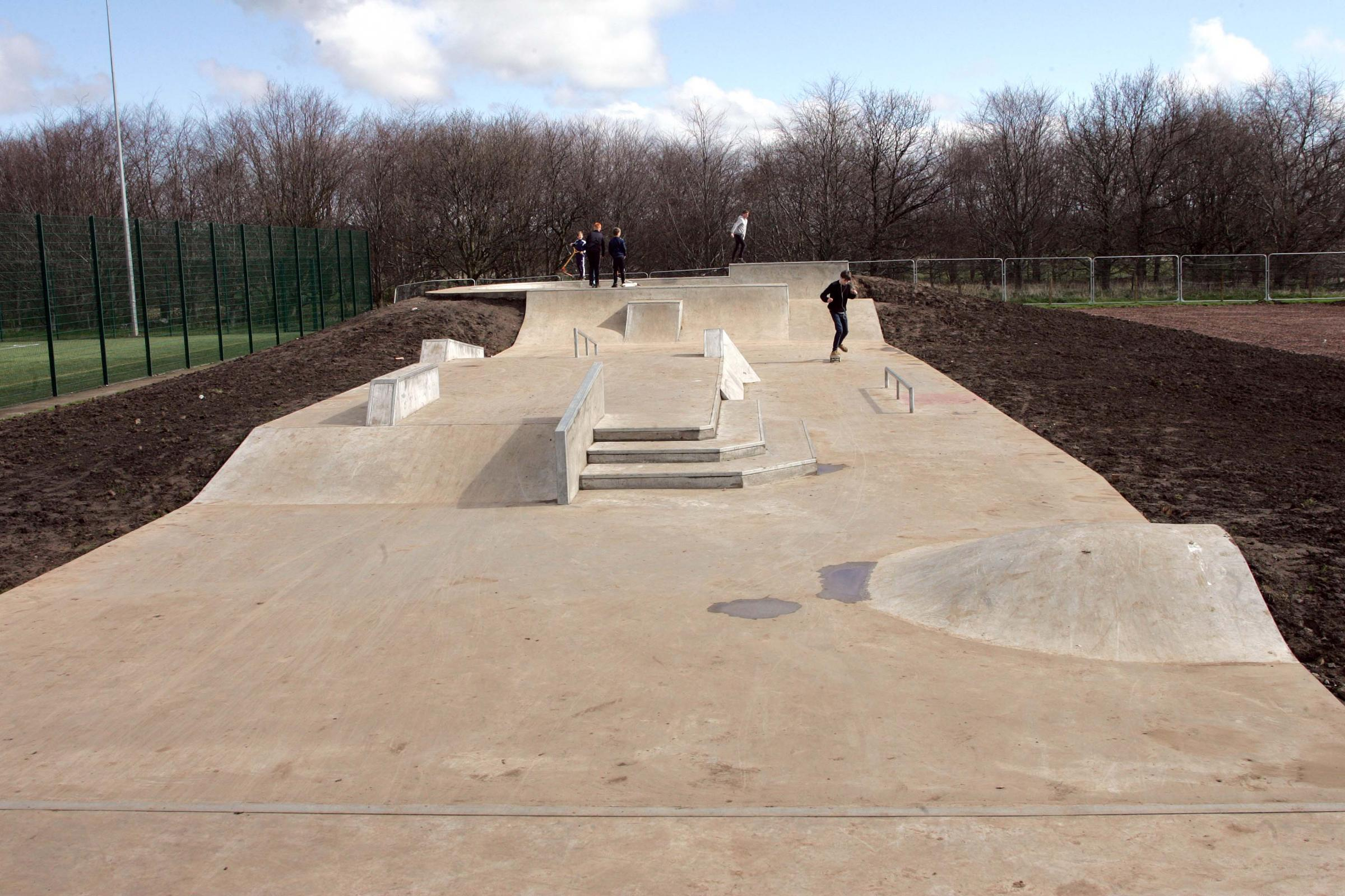 Haddington's skate park has been given a clear bill of health – despite cracks in the cement