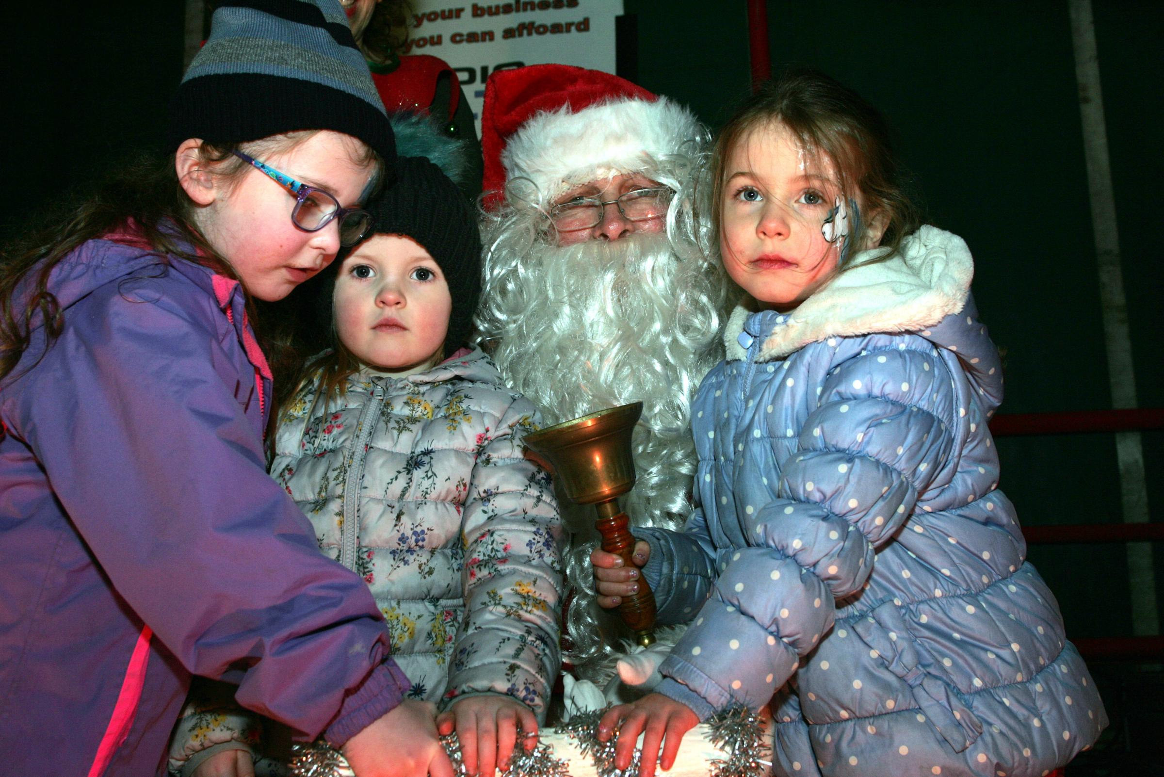 Events such as the Christmas lights switch-on in Haddington were organised by volunteers