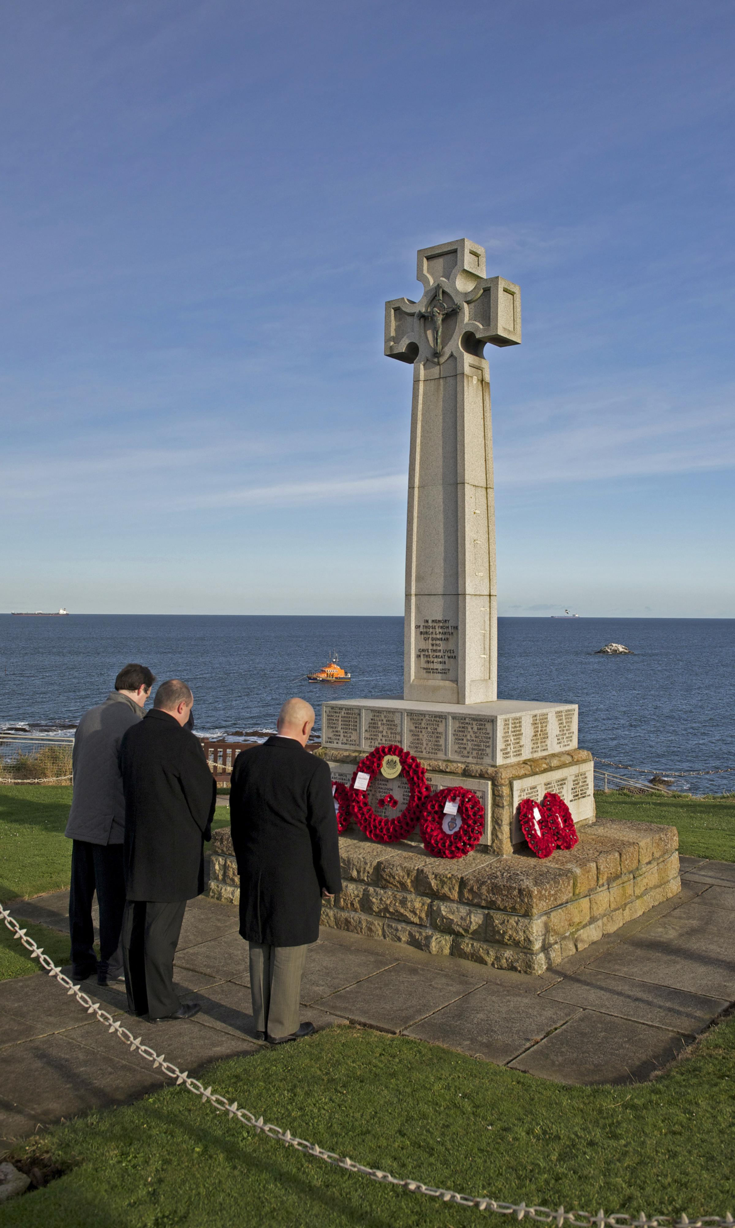 Restoration work could be carried out at Dunbar's War Memorial