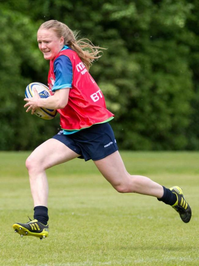 Liz Musgrove in Scotland Women 7s training. Image courtesy Scottish Rugby