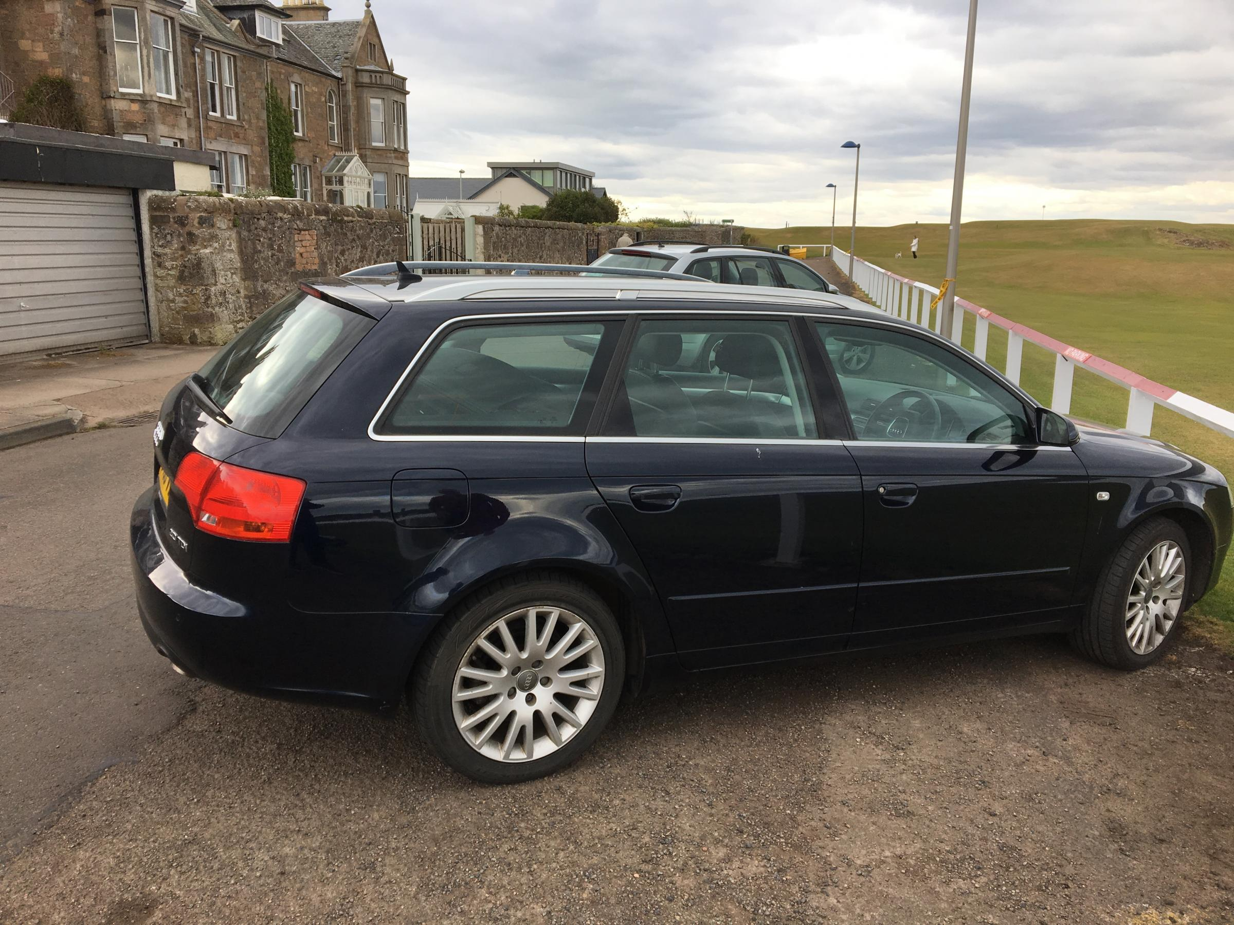 An Audi A4 (pictured) and Honda Jazz were stolen in North Berwick