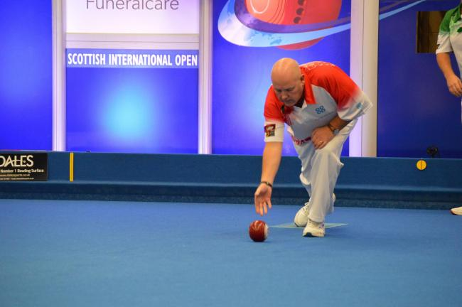 Alex Marshall in action at the Scottish International Open