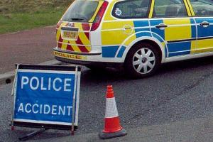 Police are at the scene of an accident on the A1 this morning