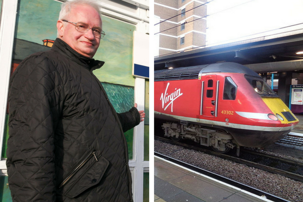 Harry Barker was on the Virgin train (similar to the one pictured right, by Mtaylor848)