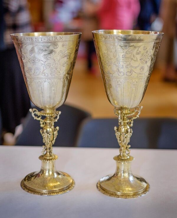 The Communion goblets are 400 years old this year