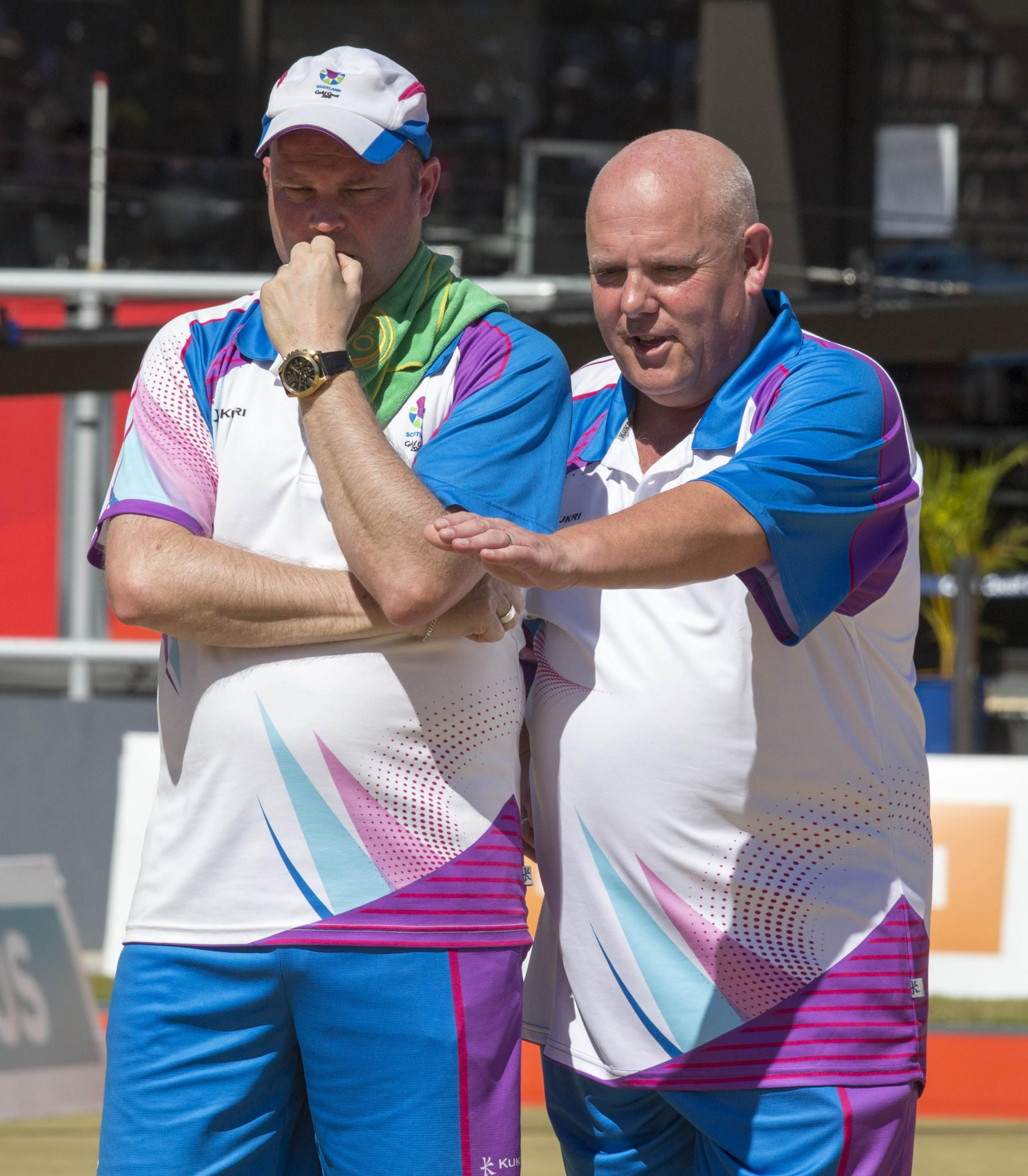 There was disappointment for Alex Marshall (right) and Paul Foster in Australia. Image Jeff Holmes/Team Scotland