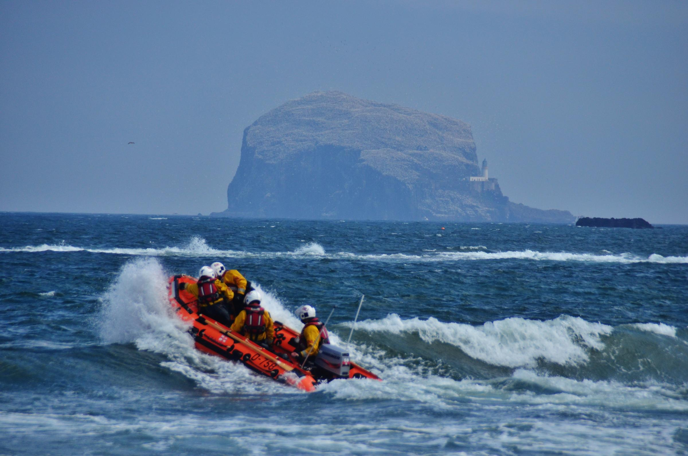 The crew from North Berwick RNLI was called out three times in the last seven days