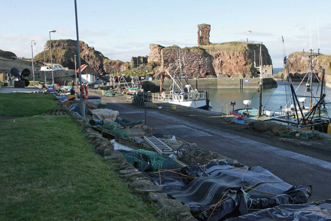 Lifeboat and coastguard teams were called out to search at Dunbar Harbour