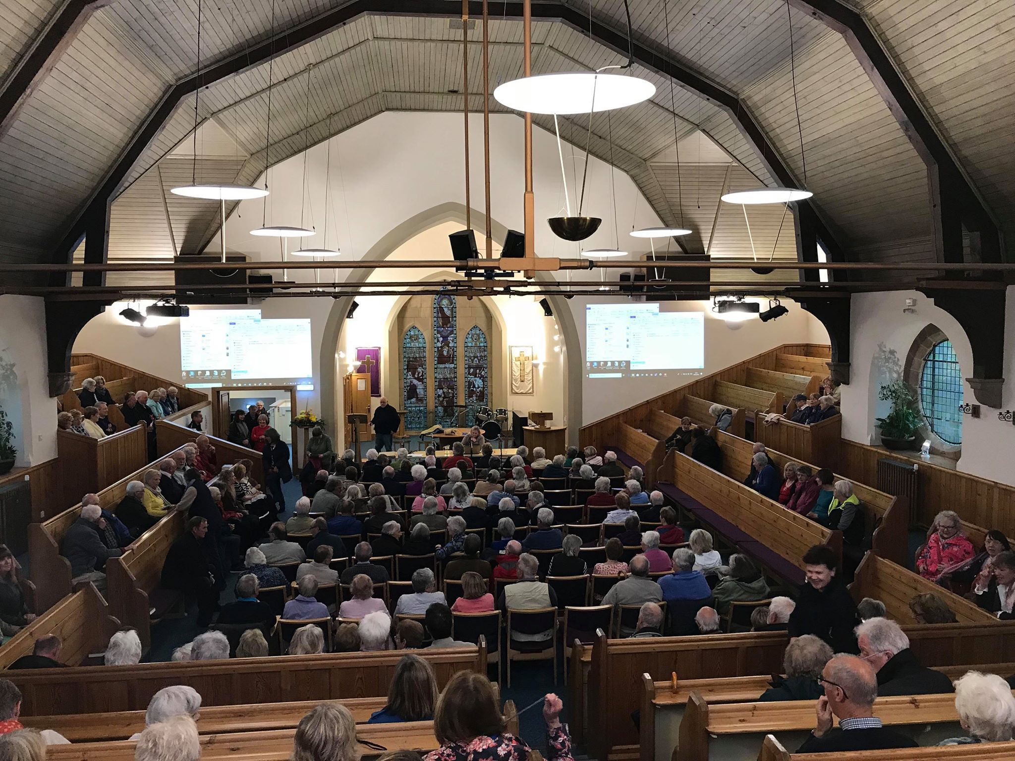 St Andrew Blackadder Church was packed out last Wednesday evening