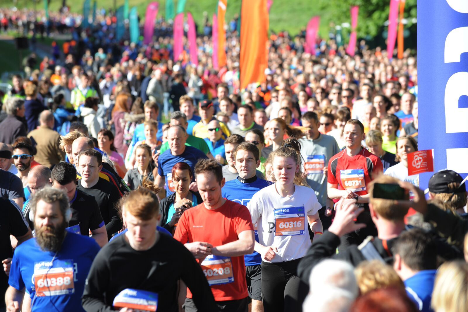 Runners taking place in the Edinburgh Marathon Festival