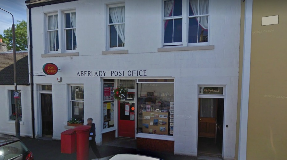 Aberlady Post Office. Image Google Maps