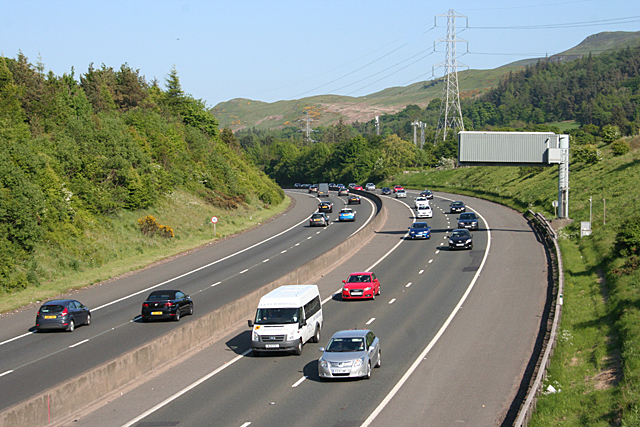 The Edinburgh City Bypass. Image copyright Anne Burgess and licensed for reuse under this Creative Commons Licence.