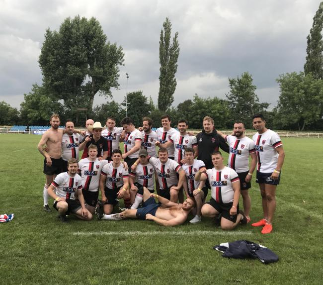 The team from North Berwick RFC in Poland