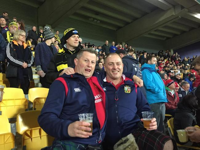 Grant Fraser (left) has stood down from his role with Musselburgh RFC