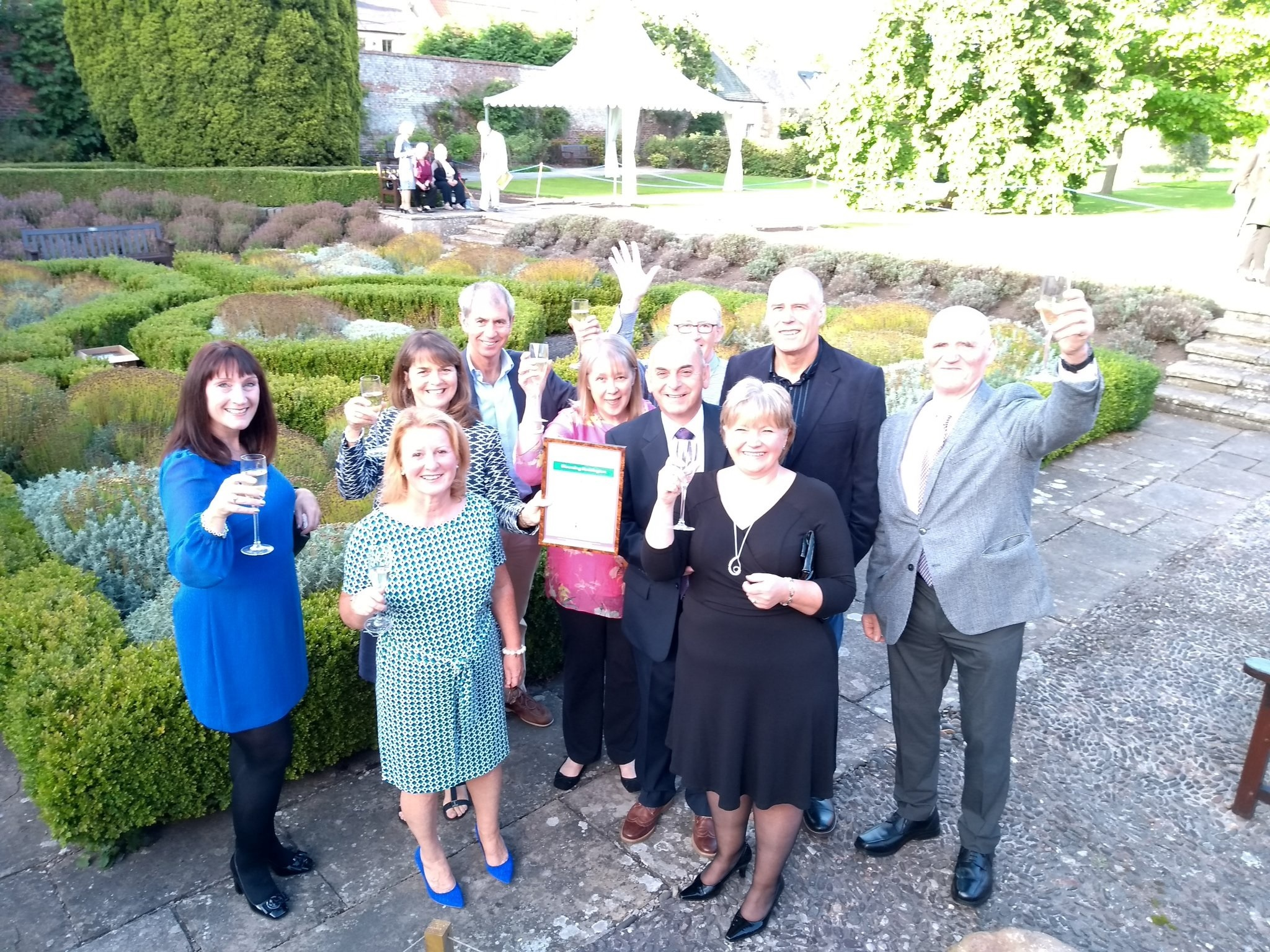 Blooming Haddington members celebrate their success. Image Blooming Haddington Twitter