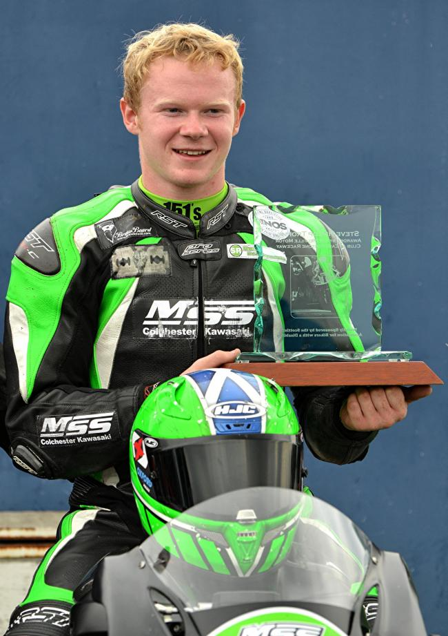 Lewis Rollo won the Steve Hislop Memorial Trophy 12 months ago. Image Sylvia Beaumont