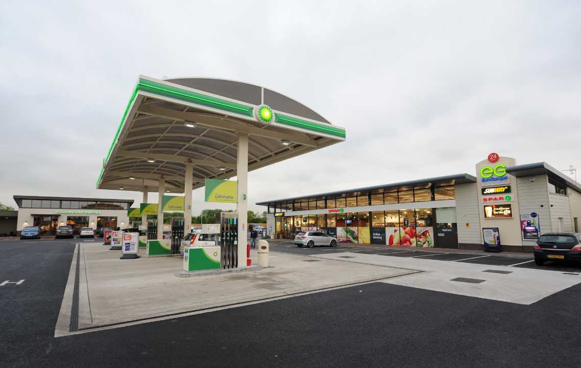 A new service station, similar to this at Castle Park, near Wakefield, could be created under plans from Euro Garages