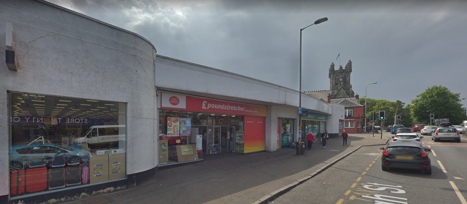 Poundstretcher was one of two businesses targeted. Picture: Google Maps