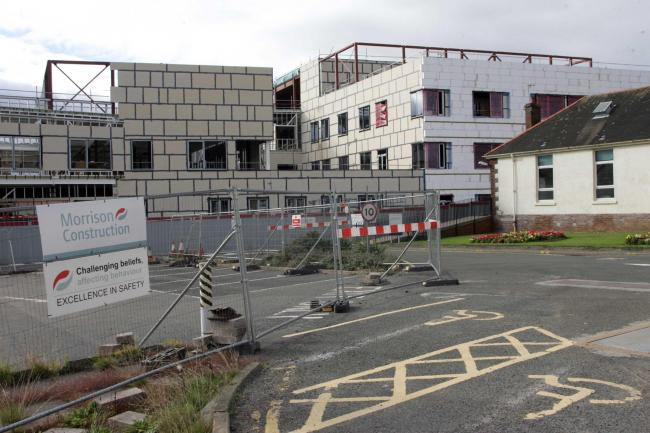 Construction work on East Lothian Community Hospital is continuing
