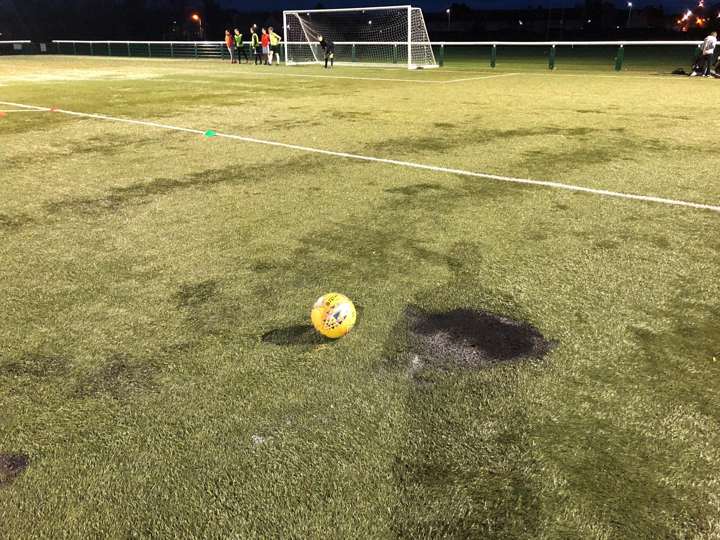 'Mindless vandalism' at Musselburgh football pitch condemned