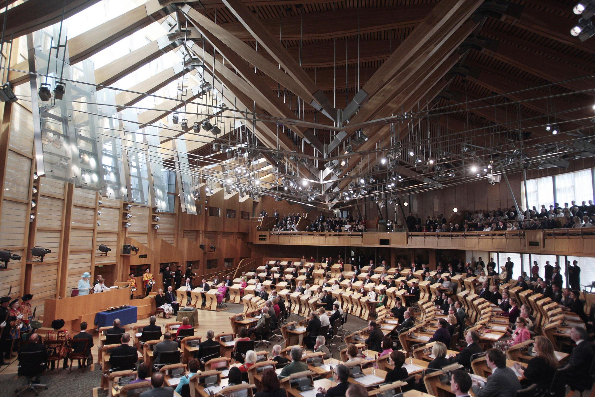 Scottish Parliament chamber