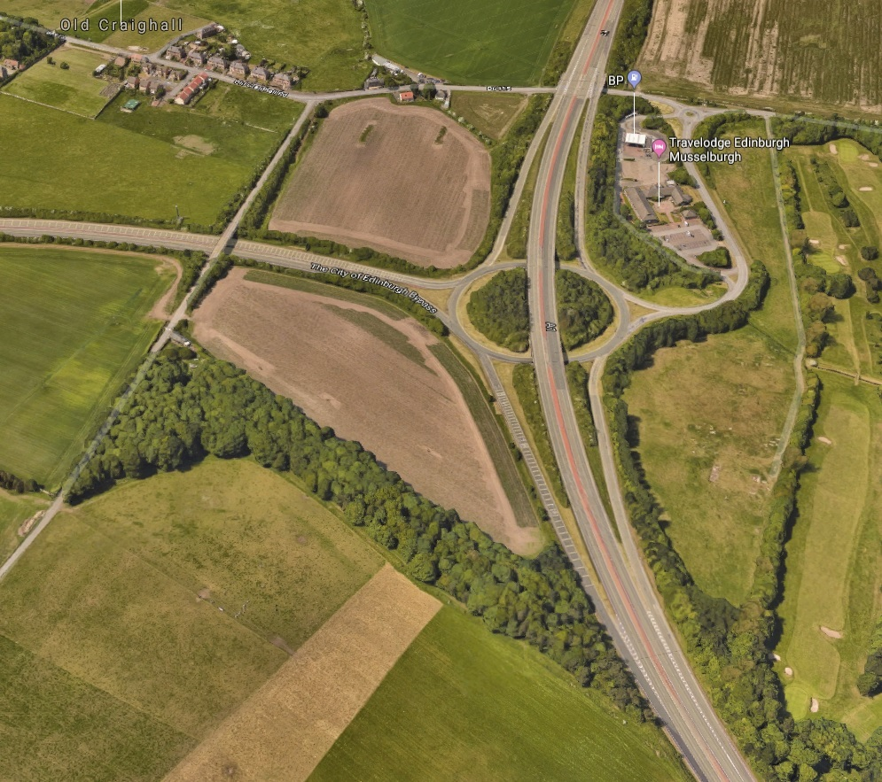 A new junction linking the A1 and the City of Edinburgh Bypass is being considered. This is the current road layout. Picture: Google Maps