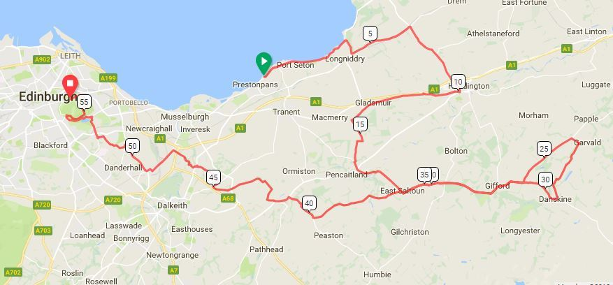 The Ironman route took competitiors through much of East Lothian