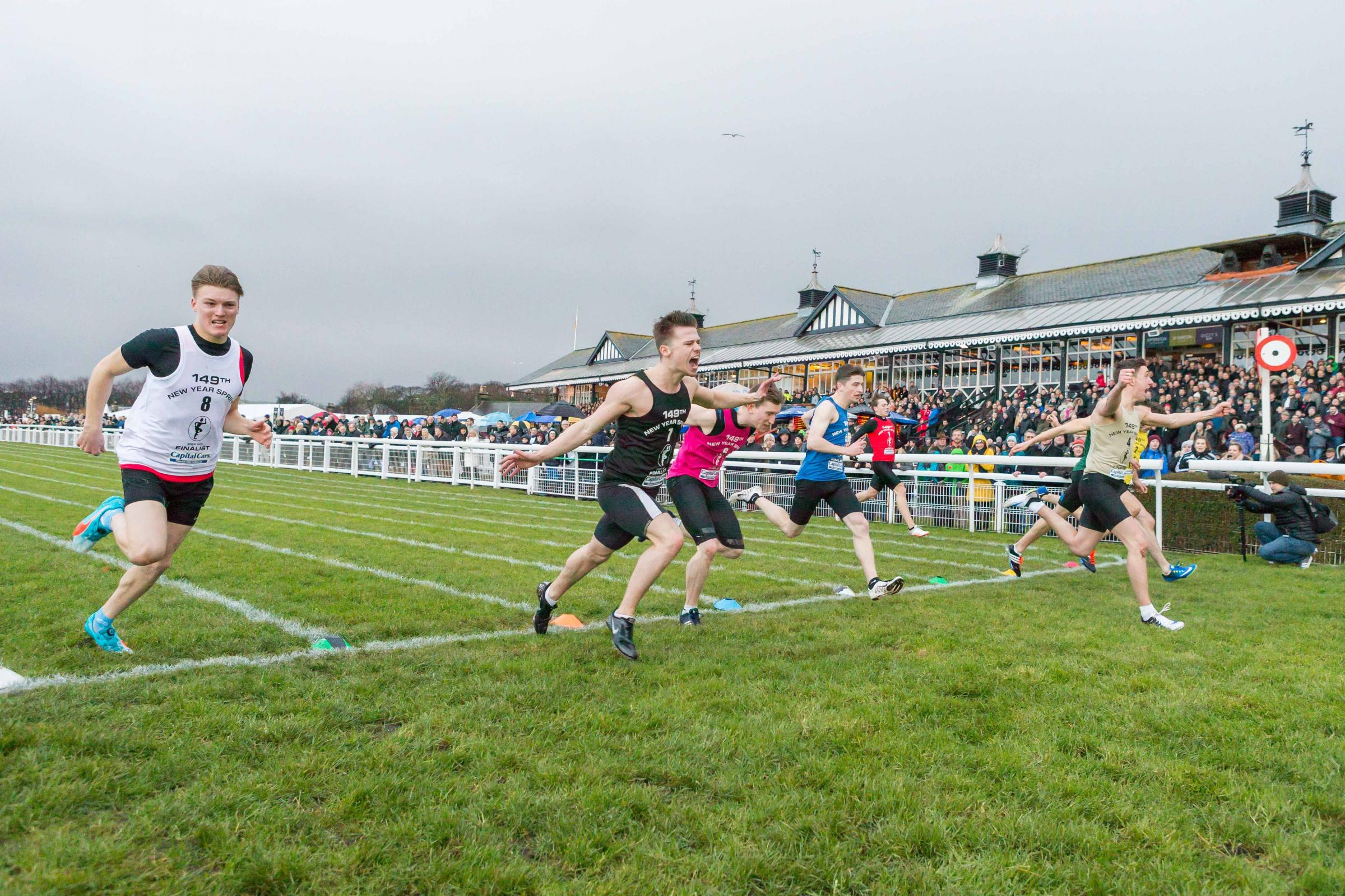 East Kilbride's Callum McWilliams won the 2018 New Year Sprint.