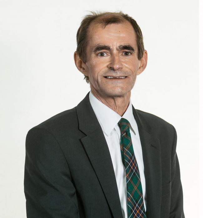 Councillor Willie Innes, council leader