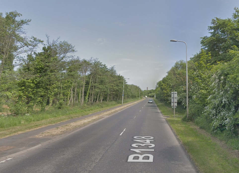 The crash took place on the B1348 between Musselburgh and Prestonpans. Image Google Maps