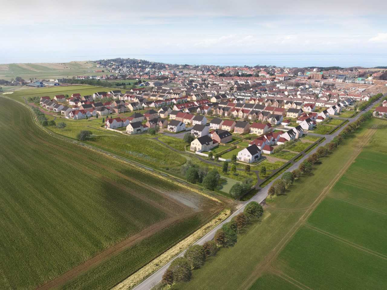 East Lothian Council is weighing up plans for housing on Saltcoats Field to the south of Gullane