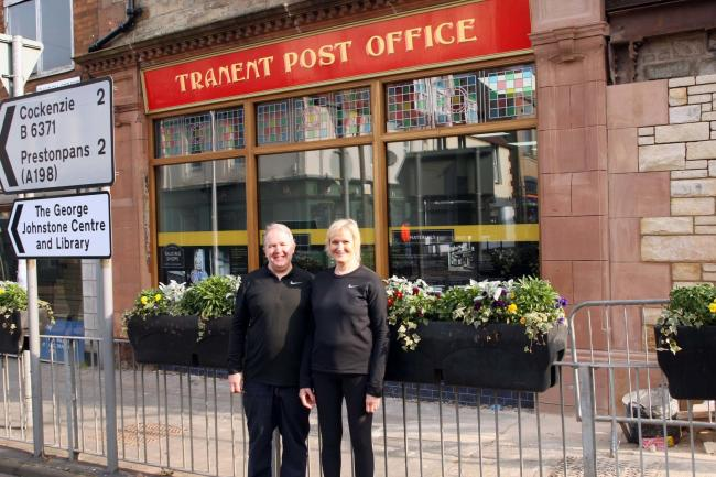 George and Susan Thomson outside their newly refurbished Post Office