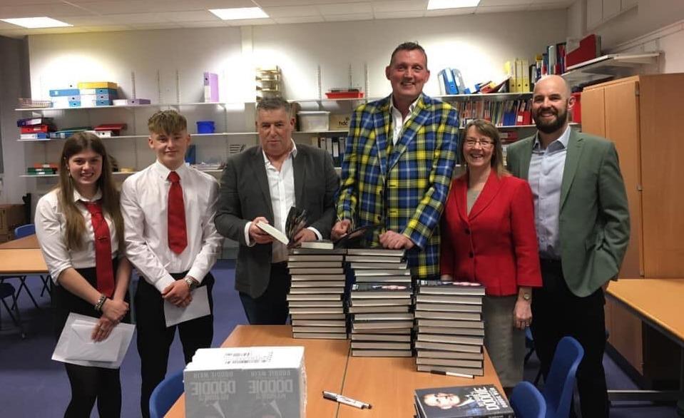 Doddie Weir gives 'inspirational' talk at North Berwick High School