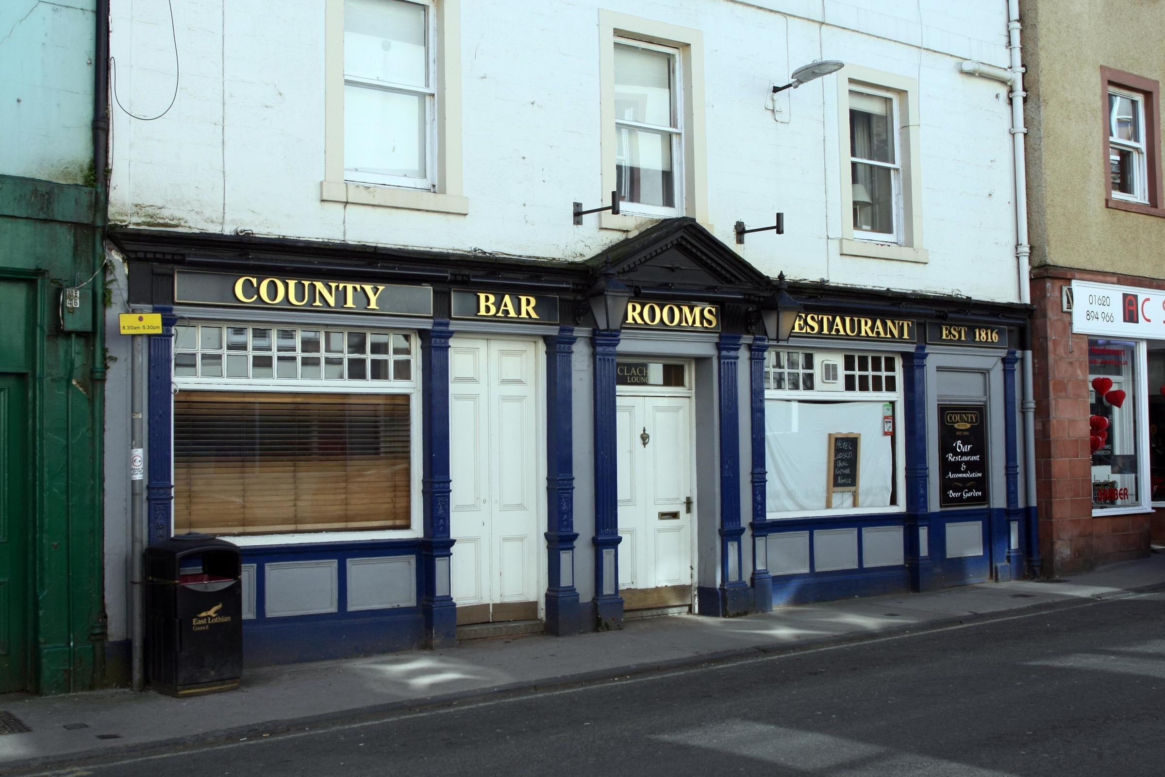 County hotel north berwick menu