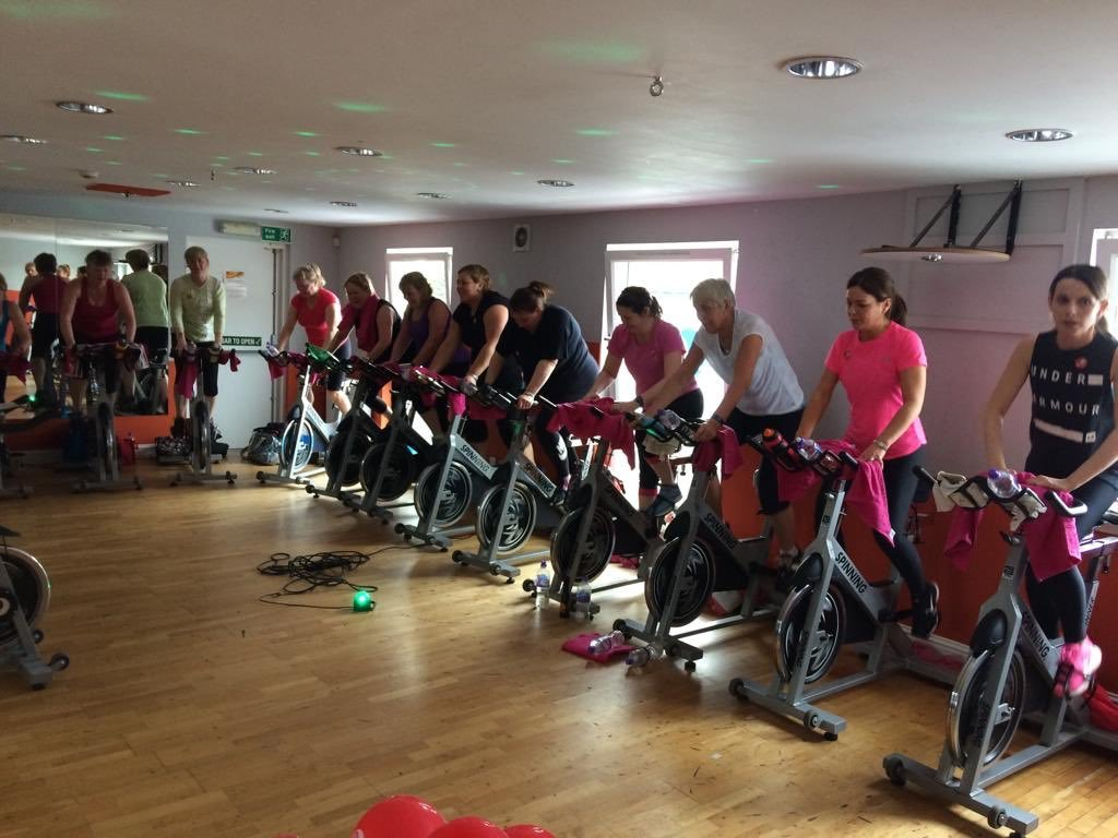 A spinathon in aid of the Jess Mackie Memorial Fund proved a great success