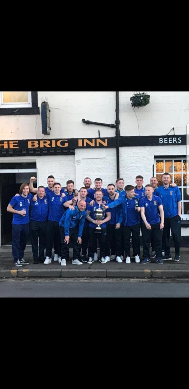 Tranent Amateur celebrate their cup win