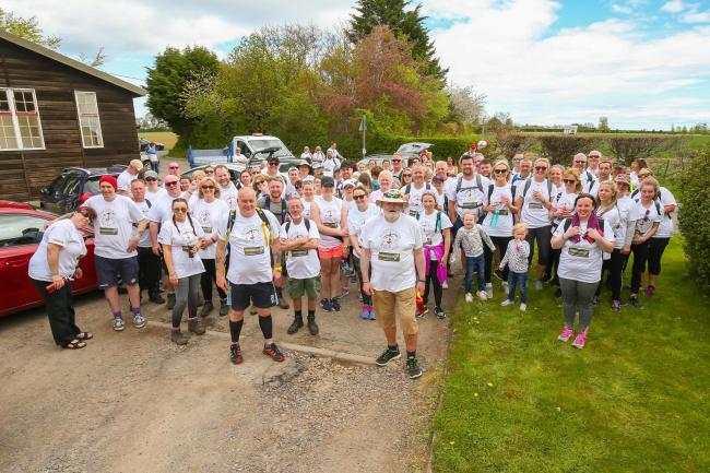 Scott Glynn (front right) and his fellow walkers are ready for action once again