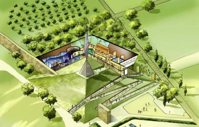 An artist's impression of the planned living history centre. Image Haley Sharpe Design