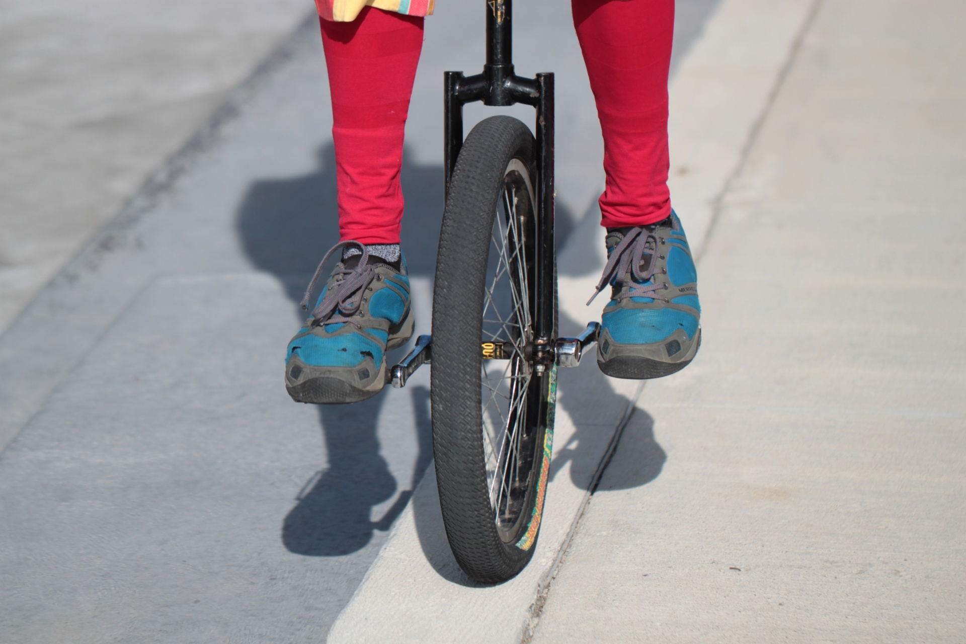 A unicycle, similar to this one, has been stolen