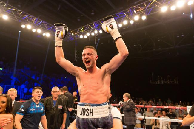 Josh Taylor hopes to be celebrating again on Saturday. Image Gordon Bell
